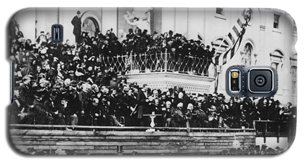 President Lincoln Gives His Second Inaugural Address - March 4 1865 Galaxy S5 Case