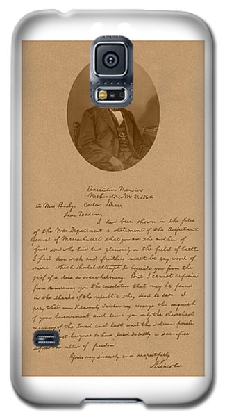 President Lincoln's Letter To Mrs. Bixby Galaxy S5 Case by War Is Hell Store