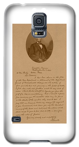 President Lincoln's Letter To Mrs. Bixby Galaxy S5 Case