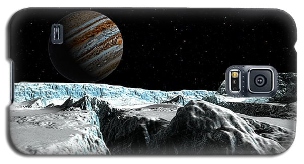 Galaxy S5 Case featuring the digital art Pressure Ridge On Europa by David Robinson