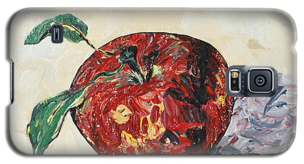 Galaxy S5 Case featuring the painting Pretty Apple by Reina Resto