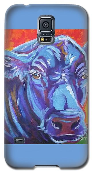 Galaxy S5 Case featuring the painting Pretty Face Cow by Jenn Cunningham