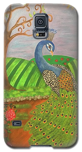 Pretty In Peacock Galaxy S5 Case