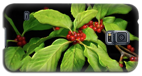 Galaxy S5 Case featuring the photograph Pretty Little Red Berries by Lois Bryan