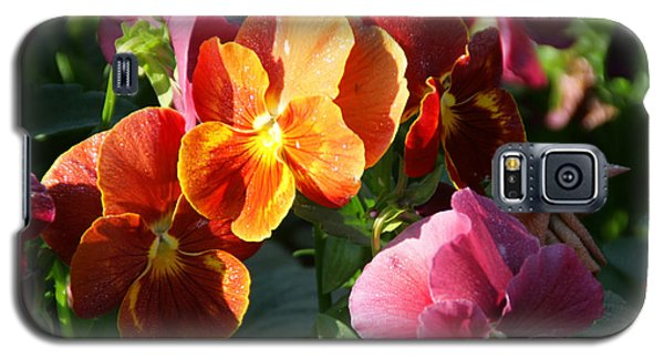 Pretty Pansies Galaxy S5 Case