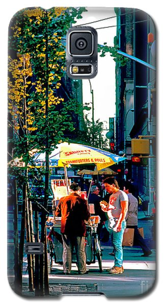 Hot Dog Stand Nyc Late Afternoon Ik Galaxy S5 Case