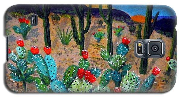 Prickly Pear Cactus Tucson Galaxy S5 Case