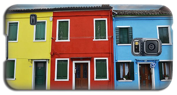 Galaxy S5 Case featuring the photograph Primary Colors Too Burano Italy by Rebecca Margraf