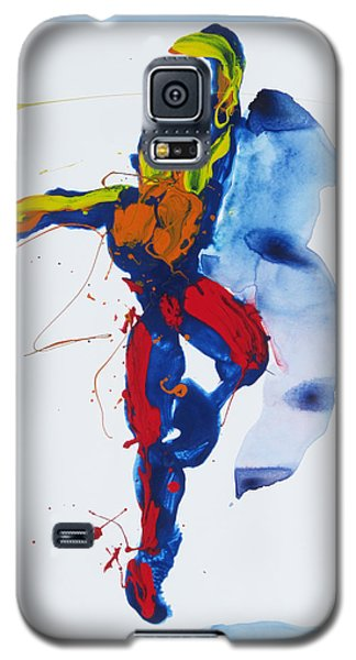 Primary Vertical Jump Shadow Galaxy S5 Case by Shungaboy X