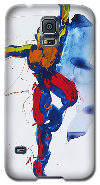 Galaxy S5 Case featuring the painting Primary Vertical Jump Shadow by Shungaboy X