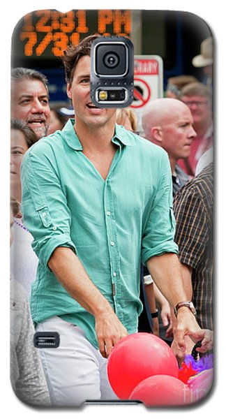 Galaxy S5 Case featuring the photograph Prime Minister Justin Trudeau by Chris Dutton