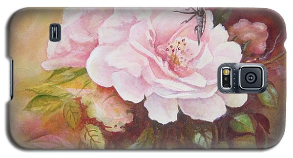 Galaxy S5 Case featuring the painting Primrose by Patricia Schneider Mitchell