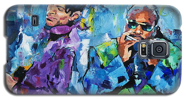 Galaxy S5 Case featuring the painting Prince And Stevie by Richard Day
