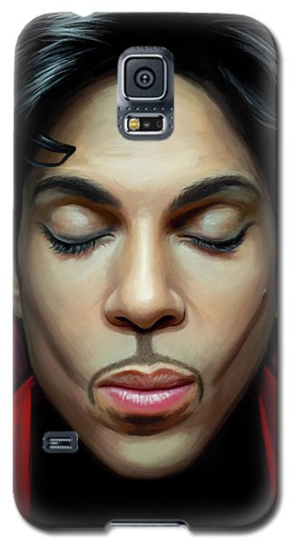 Galaxy S5 Case featuring the painting Prince Artwork 2 by Sheraz A