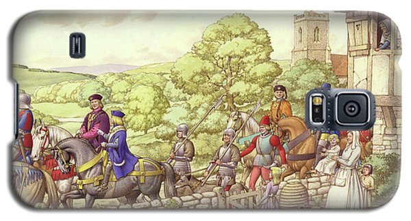 Prince Edward Riding From Ludlow To London Galaxy S5 Case by Pat Nicolle