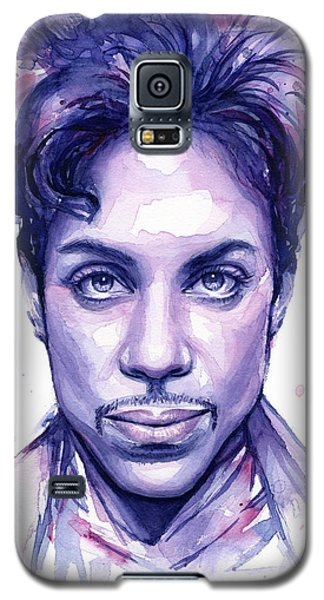 Prince Purple Watercolor Galaxy S5 Case by Olga Shvartsur