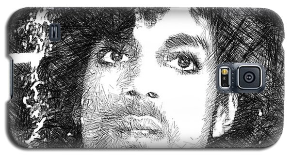 Prince - Tribute Sketch In Black And White 3 Galaxy S5 Case