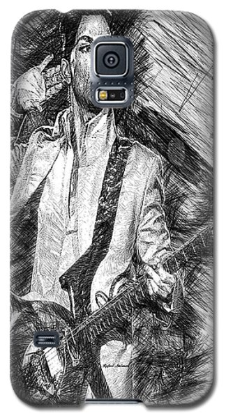 Prince - Tribute With Guitar In Black And White Galaxy S5 Case