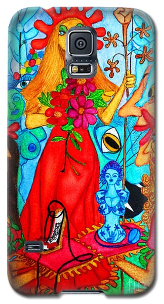 Galaxy S5 Case featuring the painting Princess Countrywoman. by Don Pedro De Gracia