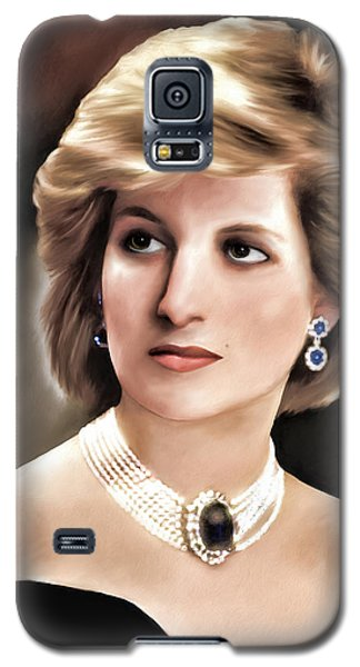 Galaxy S5 Case featuring the digital art Princess Diana by Pennie  McCracken