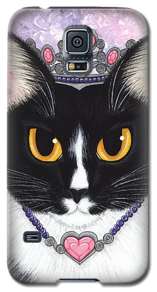 Princess Fiona -tuxedo Cat Galaxy S5 Case by Carrie Hawks