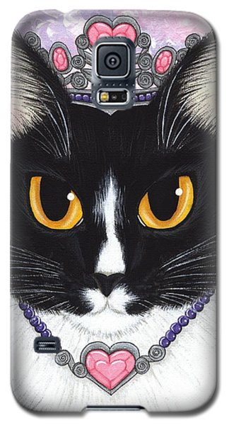 Galaxy S5 Case featuring the painting Princess Fiona -tuxedo Cat by Carrie Hawks