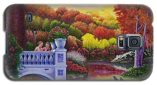 Galaxy S5 Case featuring the painting Princess Gardens by Michael Frank