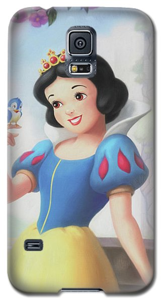 Princess Snow White Galaxy S5 Case by The Art Of Marilyn Ridoutt-Greene