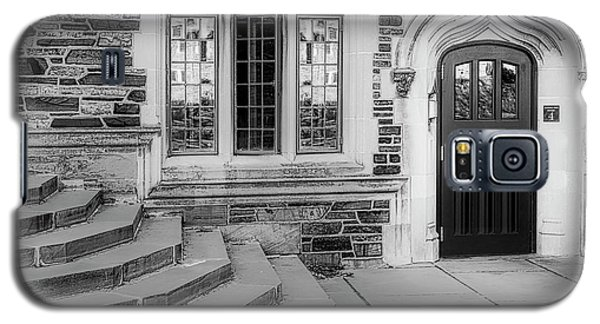 Galaxy S5 Case featuring the photograph Princeton University Lockhart Hall Bw by Susan Candelario