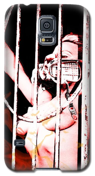 Galaxy S5 Case featuring the painting Prisoner by Tbone Oliver