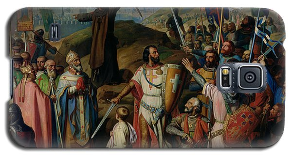 Procession Of Crusaders Around Jerusalem Galaxy S5 Case by Jean Victor Schnetz
