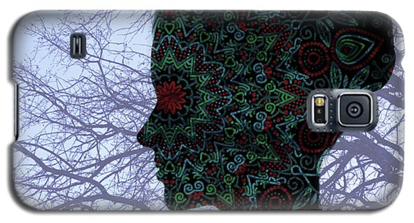 Profile Portrait Of Young Beautiful Woman. Galaxy S5 Case