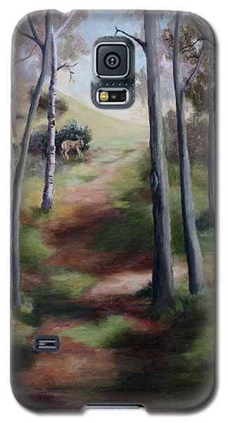 Galaxy S5 Case featuring the painting Promised Land by Brenda Thour