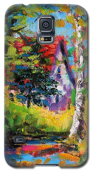 Galaxy S5 Case featuring the painting Prospect Driveway by Les Leffingwell