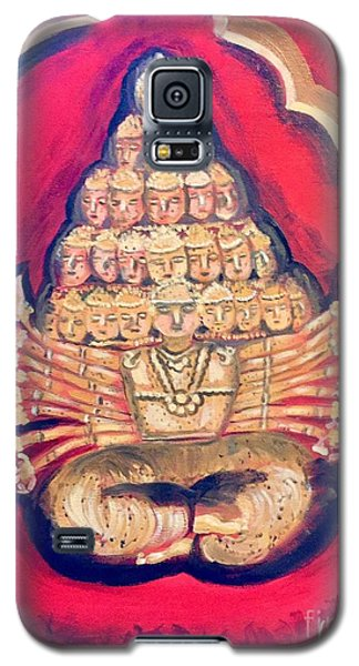 Galaxy S5 Case featuring the painting Protector by Brindha Naveen
