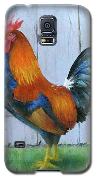Galaxy S5 Case featuring the painting Proud Rooster by Oz Freedgood