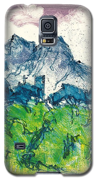 Galaxy S5 Case featuring the painting Provence Landscape Alpilles by Martin Stankewitz