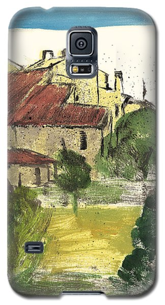 Galaxy S5 Case featuring the painting Provence Landscape Sainte Marguerite by Martin Stankewitz