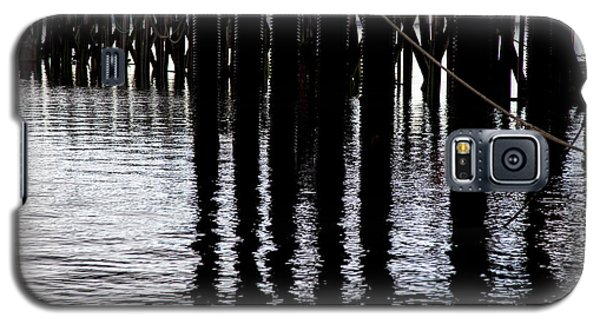 Galaxy S5 Case featuring the photograph Provincetown Wharf Reflections by Charles Harden