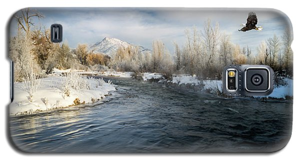 Provo River In Winter Galaxy S5 Case