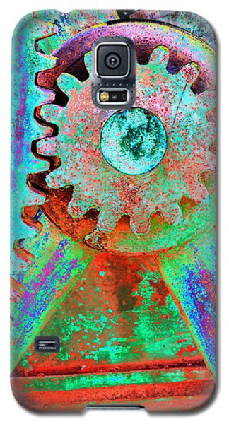 Psychedelic Gears Galaxy S5 Case by Phyllis Denton