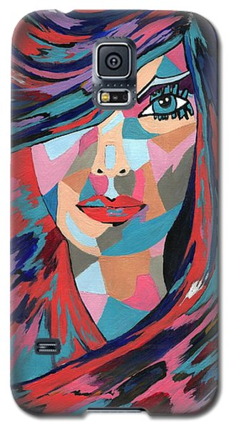 Galaxy S5 Case featuring the painting Psychedelic Jane by Kathleen Sartoris