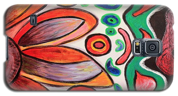 Galaxy S5 Case featuring the painting Psychedelic Summer by Jolanta Anna Karolska