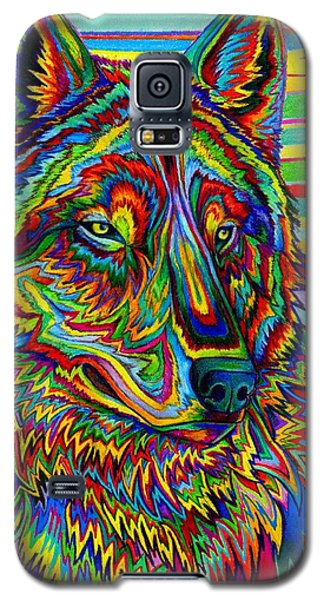 Psychedelic Wolf Galaxy S5 Case