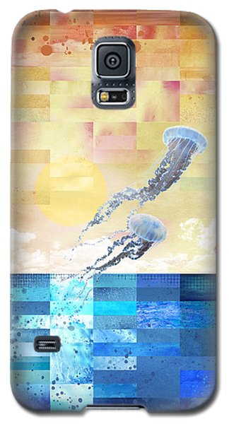 Galaxy S5 Case featuring the digital art Psychotropic Rhythms by Christina Lihani
