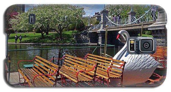 Public Garden Swan Boat In The Spring Boston Ma Galaxy S5 Case