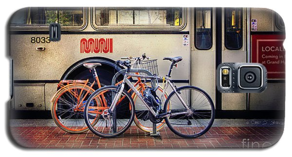 Galaxy S5 Case featuring the photograph Public Tier Bicycles by Craig J Satterlee