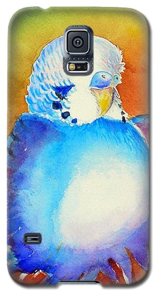 Galaxy S5 Case featuring the painting Pudgy Budgie by Patricia Piffath