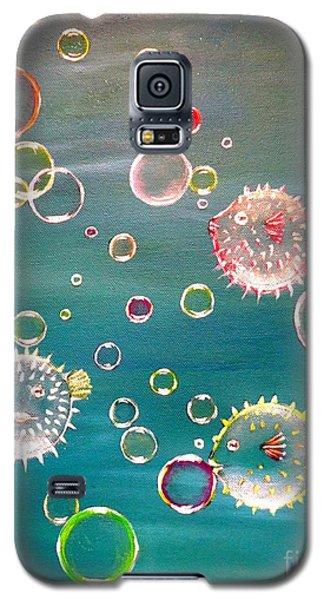 Puffer Fish Bubbles Galaxy S5 Case