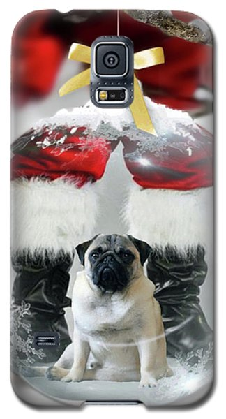 Pug And Santa Galaxy S5 Case